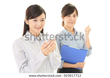 Smiling business women - stock photo
