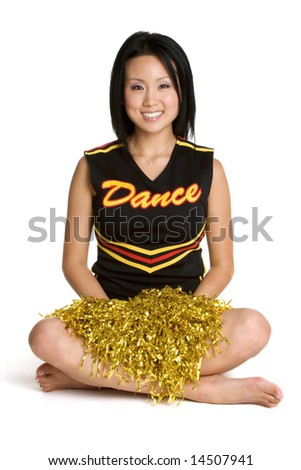 Smiling Cheerleader - stock photo