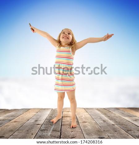 smiling child  - stock photo