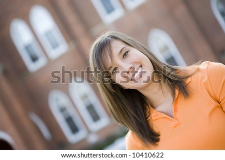 Smiling college student - stock photo