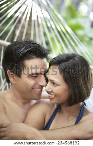Smiling Couple in Hammock