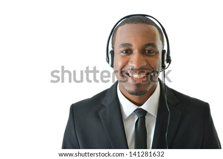 Smiling Customer Service Representative - stock photo