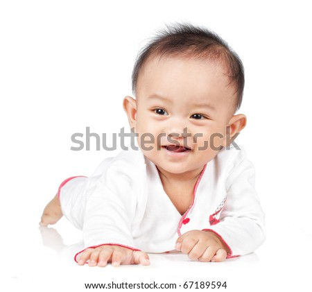 Smiling Cute Baby Boy - stock photo