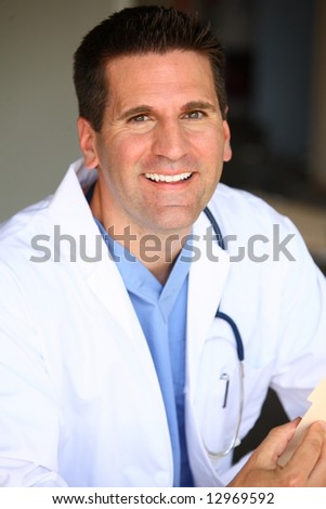 Smiling Doctor - stock photo