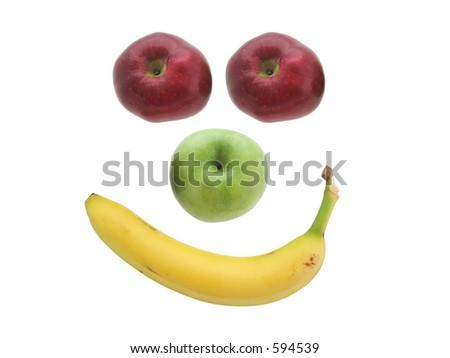 Smiling fruit. - stock photo