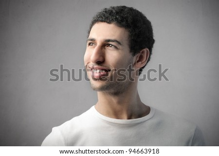 Smiling handsome african man - stock photo