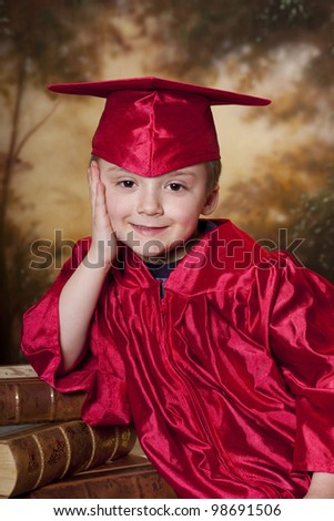 smiling happy graduation time - stock photo
