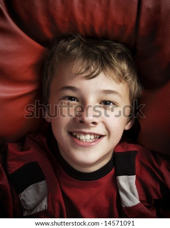Smiling happy young boy - stock photo