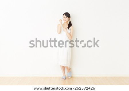 smiling Japanese woman - stock photo