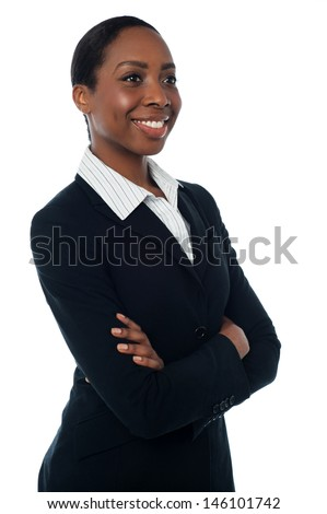 Smiling manager posing with confidence - stock photo
