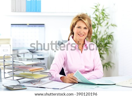 Smiling mature business woman. - stock photo