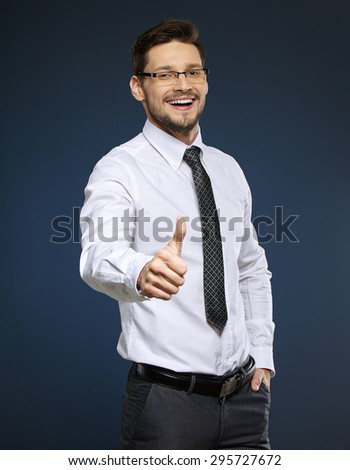 Smiling middle aged business man - stock photo