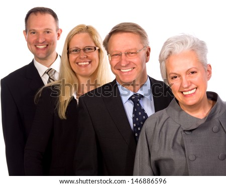 Smiling mixed Businessteam - stock photo