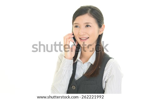 smiling office lady