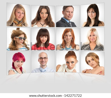 Smiling Portraits - stock photo
