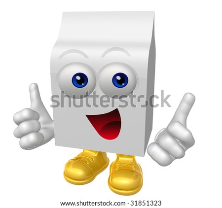 Smiling product packaging box mascot illustration