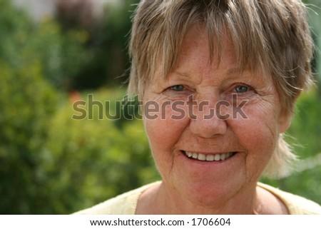 smiling retiree - stock photo