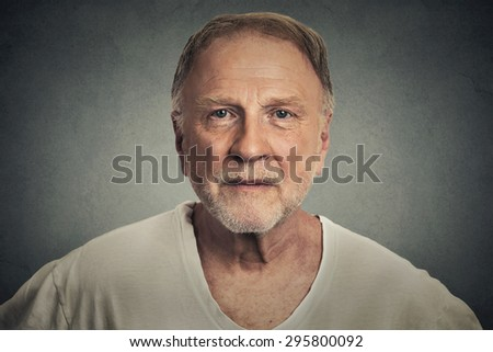 Smiling senior man - stock photo