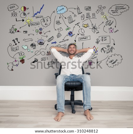 smiling successfull busines guy - stock photo
