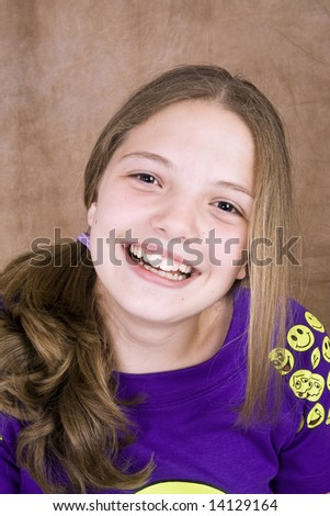 Smiling teenager - stock photo