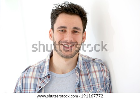 Smiling 30-year-old man  - stock photo