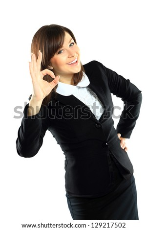 Smiling young african businesswoman with briefcase - stock photo