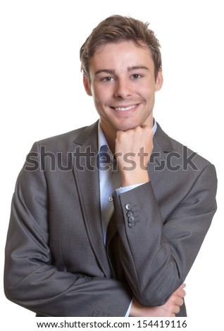 Smiling young business man - stock photo