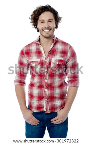 Smiling young man posing in casual wear