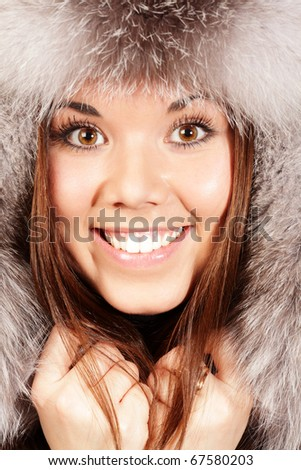 smiling young woman isolated