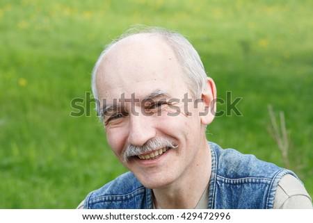 Smilling senior - stock photo