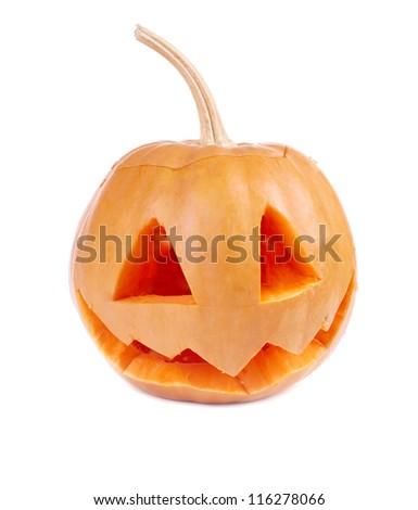 Smirking halloween face - stock photo