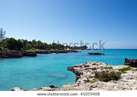 Smith cove beach of cayman islands - stock photo