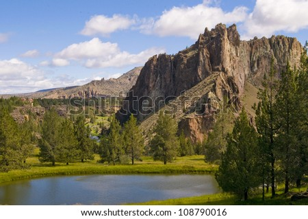 Smith Rock, Oregon - stock photo