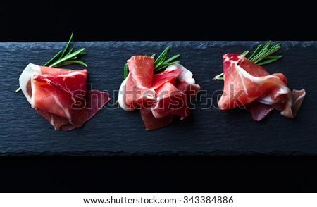 smocked pork  - stock photo