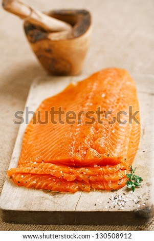 Smoked Salmon Stock Images, Royalty-Free Images & Vectors ...
