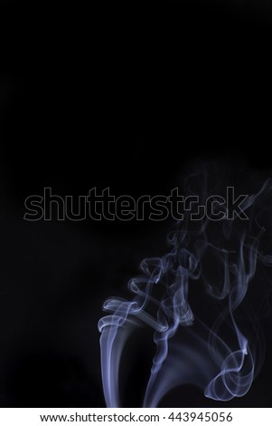 Smoke and Black Background