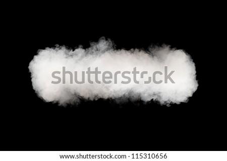 smoke cloud background on black - stock photo