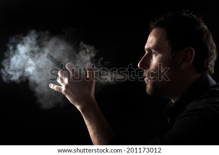 Smoke Electronic Cigarette - stock photo