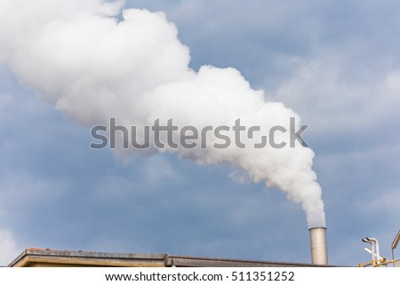 Smoke from industrial chimney