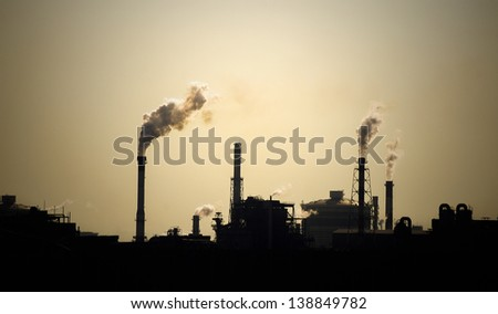 Smoke from industry