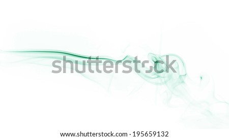 smoke isolated on white background
