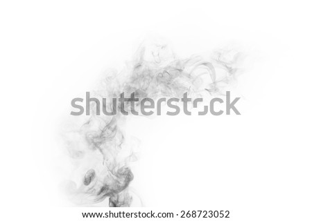 smoke isolated on white background - stock photo