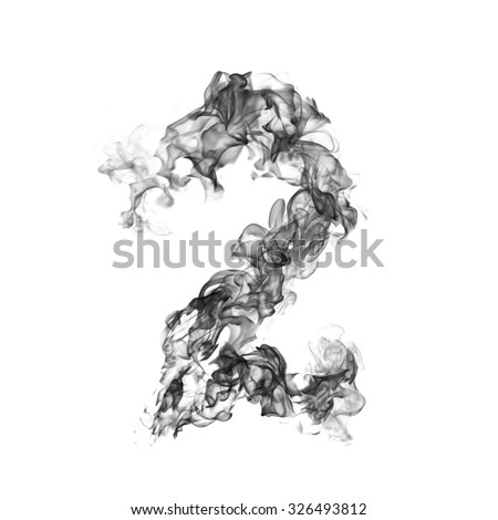 Smoke number 2 - stock photo