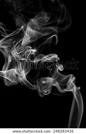 Smoke on black background. - stock photo