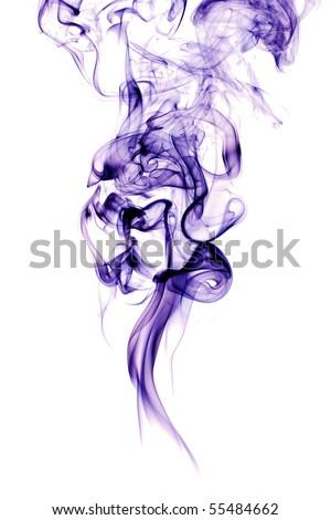 smoke on white - stock photo