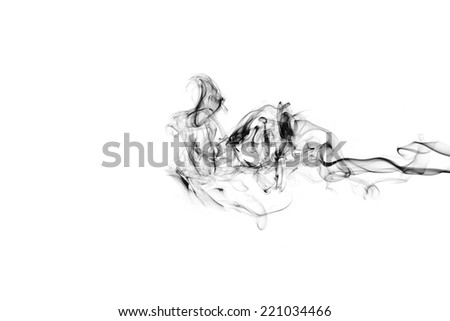 Smoke on white background - stock photo