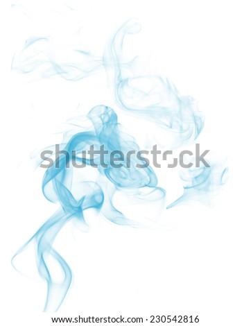 Smoke on white background - stock photo