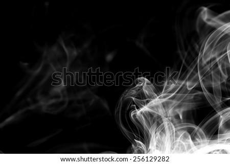 Smoke on white background. - stock photo