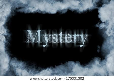 Smoke over black background - stock photo