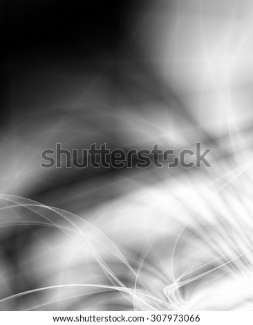 Smoke silver power abstract template design - stock photo